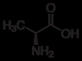 水中L-丙氨酸溶液,100μg/mL
